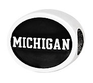 Sterling Silver University of Michigan Bead - J300711