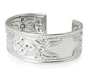 Novica Artisan Crafted Sterling Petals Cuff - J303911