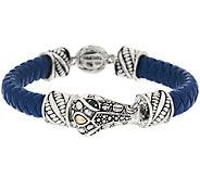 JAI Sterling & 14k Accent Braided Leather Bracelet - J319811
