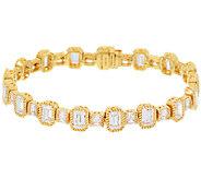 Judith Ripka Sterling & 14k Clad Diamonique Bracelet 7-1/4 - J320311