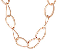 Bronze 24 Twisted Oval Link Necklace by Bronzo Italia - J322811