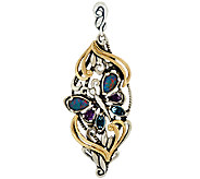Carolyn Pollack Sterling/Brass Gemstone Butterfly Enhancer - J323711
