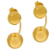 Veronese 18K Clad Bead Stud Earring Jackets - J325811