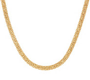 As Is 14K 16 Domed Mirror Byzantine Necklace, 12.4g - J328711