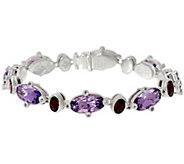 Judith Ripka Sterling Silver Multi-Gemstone Tennis Bracelet - J329211