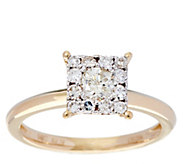 Princess Cluster Design Diamond Ring, 14K, 1/2 cttw, by Affinity - J329511