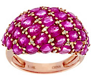 Mozambique Ruby & Diamond Accent Bold Domed Ring, 14K 6.00 cttw - J330211
