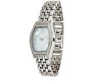 Diamonique Tortue Style Watch with Bracelet Strap - J331511