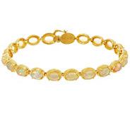Ethiopian Opal Sterling Silver 7-1/4 Tennis Bracelet - J334311