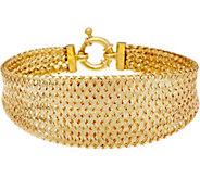 Dieci 7-1/4 Braided Mesh Bracelet 10K Gold, 8.4g - J334711