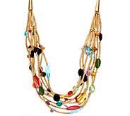 Linea by Louis DellOlio Mardi Gras Multi Layer Necklace - J335211