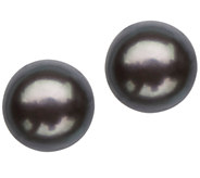 Honora 8-9mm Round Colored Pearl Button Earrings, Sterling - J336911