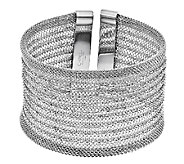 Stainless Steel Mesh Bold Cuff - J337811