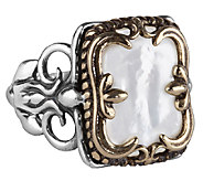 Carolyn Pollack Sterling & Brass Mother-of-Pearl Ring - J338111