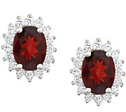 Premier 2.50cttw Oval Garnet & Diamond Earrings, 14K - J338211