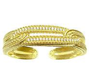 Judith Ripka 14K Gold Clad Diamonique Cuff - J339211