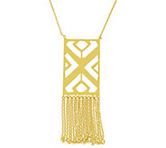 Sterling Geometric Fringe Necklace by Silver Style - J341311