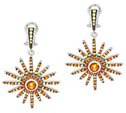 Judith Ripka Sterling Citrine & DiamoniqueSun Earrings - J342711