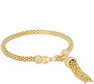 Judith Ripka Verona Tassel Bracelet Sterling &14K Clad 13.5g - J343911