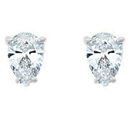 Pear Diamond Earrings, 14K White Gold, 3/4 cttw, by Affinity - J345211
