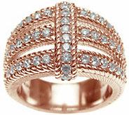 Judith Ripka 14K Rose Gold-Clad Openwork Ring - J345811