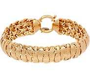 14K Gold 7-1/4 Diamond Cut Domed Bracelet, 10.5g - J347511