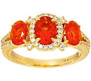 Judith Ripka 14K Clad 1.50 cttw Mexican Fire Opal Ring - J348211