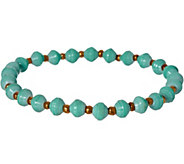 31 Bits Beaded Daphine Stretch Bracelet - J349311