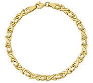 14K Gold XOXO 7 Bracelet, 3.3g - J374811