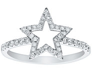 Star Diamond Ring, 14K Gold, 1/3 cttw, by Affinity - J375211