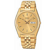 Seiko Mens Dress Goldtone Watch with GoldtoneDial - J107712