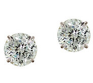 Diamonique 2.00 ct tw 100-Facet Stud Earrings,1 4K Gold - J110212