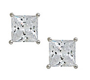 Epiphany Diamonique 4.00 ct tw Princess CutStudEarrings - J112312