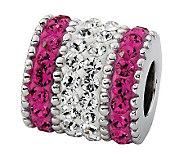 Prerogatives Sterling Fuchsia Crystal Barrel Bead - J113212