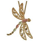 Black Hills Delicate Dragonfly Pendant, 10K/12K Gold - J113712