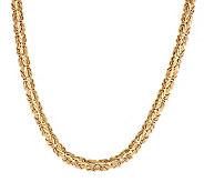 Vicenza Gold 18 Polished Woven Byzantine Necklace 14K Gold, 15.0g - J281712