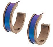 Mirell Titanium 1-1/2 Colored Hoop Earrings - J282812