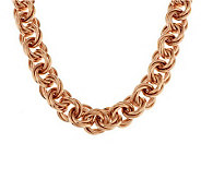 Bronze 22 Bold Triple Rolo Link Necklace by Bronzo Italia - J285612