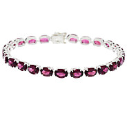 17.50 ct tw Master Cut Rose Blush Garnet 7-1/4 Tennis Bracelet - J288912