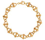 14K Gold 7-1/4 Status Marine Link Design Bracelet, 4.1g - J289312