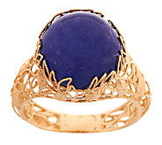 Adi Paz Tanzanite Cabochon Floral Design Ring, 14K Gold - J289612