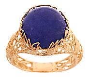 Adi Paz Tanzanite Cabochon Floral Design Ring, 14K Gold - J289612