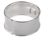 As Is Paola Valentini Sterling Textured Hinge Bangle, 30.0g - J290812
