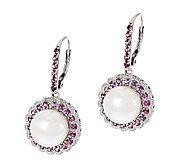 Honora Cultured Pearl 9.5mm & Gemstone Sterling Drop Earrings - J292112