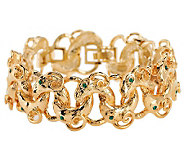 Jacqueline Kennedy Simulated Emerald Rams Head Bracelet - J294512