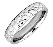Simply Stacks Sterling Silver Cobblestone 4.25mm Ring - J299012