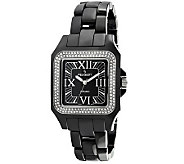 Peugeot Womens Swiss Ceramic Swarovski Black Dial Watch - J308612