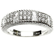 Judith Ripka Sterling 5/8 cttw Diamonique Band Ring - J309012