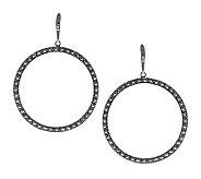 Suspicion Marcasite Open Circle Hoop Earrings,Sterling - J310612