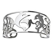 Stainless Steel Cutout Dolphins Cuff - J312012